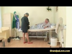granddad babe fucking a good dark brown nurse