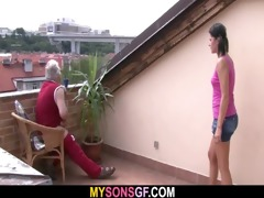 concupiscent daddy bangs his son&#8116 s gf
