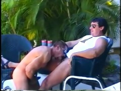 muscled dad bears enjoying sleazy outdoor penis