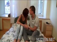 man copulates his girlfriend