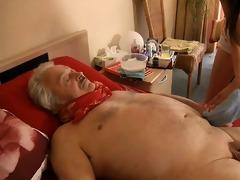 sexy, youthful nurse copulates horny, sick grandad