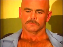 hairy muscled dad bears fiery anal attack session