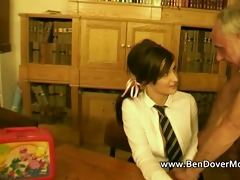 british legal age teenager in pigtails and uniform