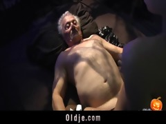 cheerful sex-alloween night for grandpapa