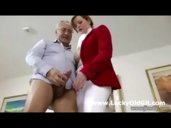 cute nasty horserider bonks mature british lad