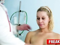 curly cum-hole golden-haired humiliated by freaky