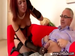 posh redhead in underware acquires sexy