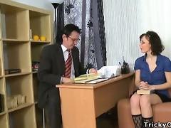 juvenile coed tempted her teacher.