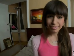 pleasing astounding legal age teenager plays with