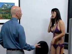 nadia is drilled by it is in the office