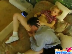 legal age teenager babysitter teases blows and