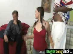 young daughter gets pounded by big dark rod 110