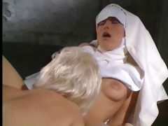 mature and younger nun play