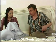 youthful hotty drilled by aged chap