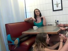 daughter gives footjob and bj to not her daddy