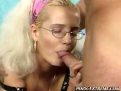 teaching nerd daughter how to give proper blowjob