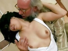 granddad copulates his youthful girlfriend