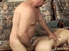 old penis copulates youthful cum-hole