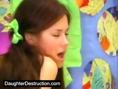 youthful daughter screwed in her mouth and love