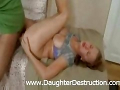 daughter anal pounded hard
