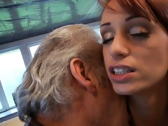 fortunate oldman fucks with super hot hottie