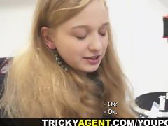 tricky agent - her st porn casting movie scene