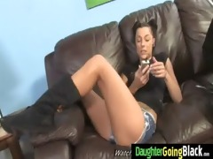 youthful daughter with priceless a-hole drilled
