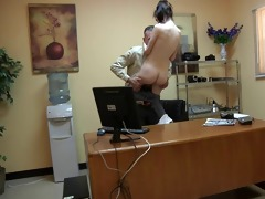 guy fuck the juvenile hotty in the office