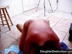 pigtailed teen daughter screwed hard