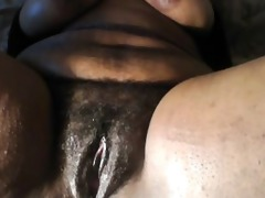 ebon big beautiful woman masturbating, just for