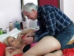 naughty old guy screws youthful blond