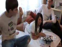 hottie team-fucked by other boy