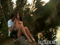cute legal age teenager girl rides shlong of chap