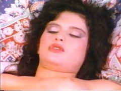 sleeping girl receives a pearl necklace