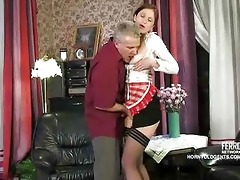 old pounder copulates juvenile russian maid