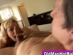old guy copulates sexy younger hottie