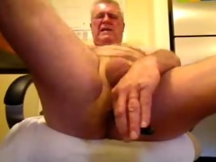kinky oldman solo wang and butt pleasure