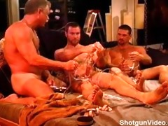 cbt sadistic vacuum pump party with very muscular