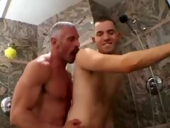dad and me in the shower